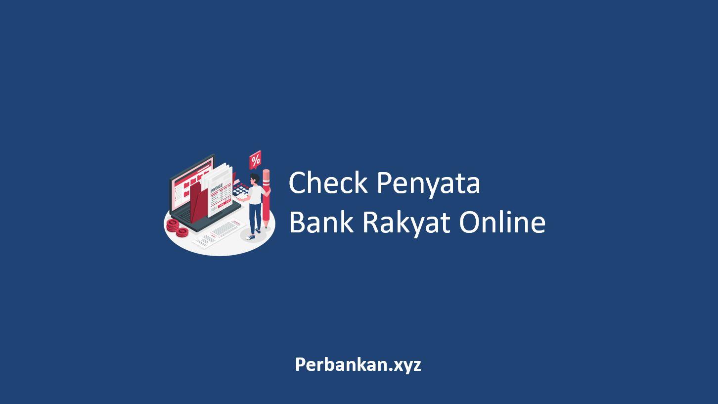 Check Penyata Bank Rakyat Online