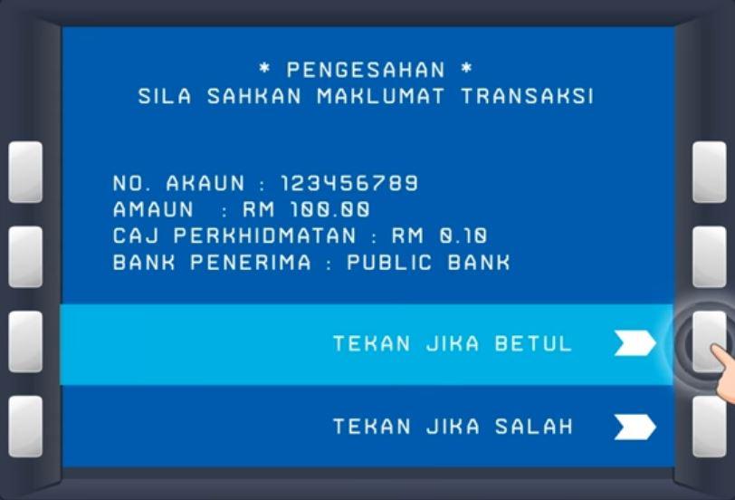 Cara Buat IBG Transfer BSN di ATM