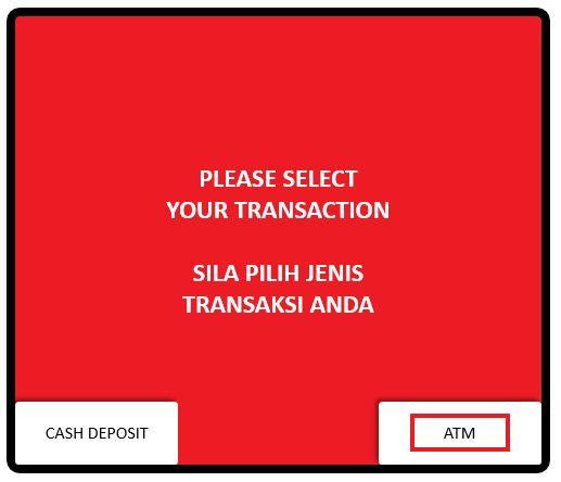 Cara Daftar No Telefon TAC CIMB via ATM Machine