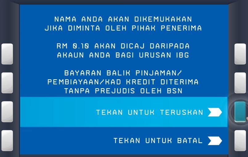 Cara IBG Transfer BSN di ATM
