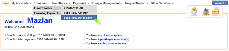 Cara IBG Transfer Bank Muamalat