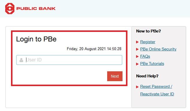 Cara Login Pbebank Online Portal