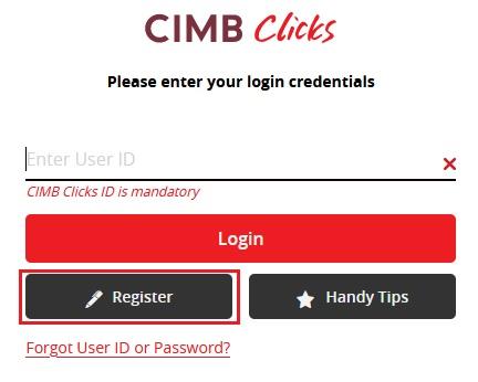 Cara Reset Password CIMBClicks Internet Banking Web Portal