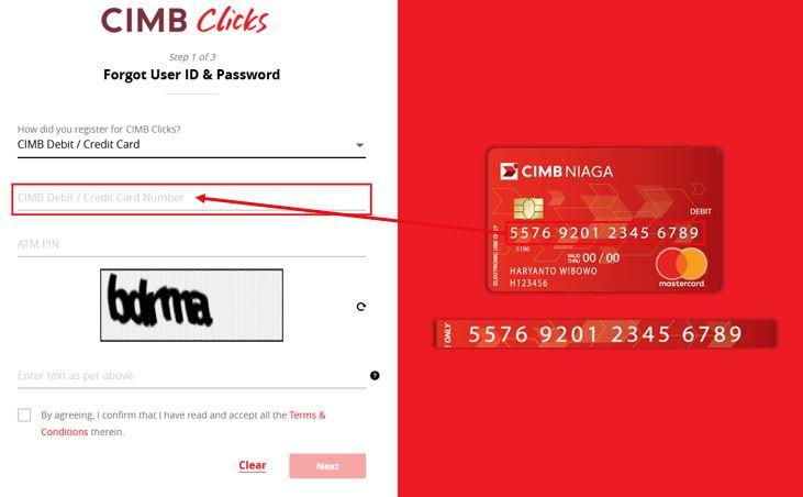 Cara Reset Password CIMBClicks Internet Banking
