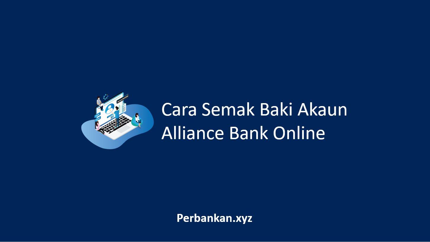 Cara Semak Baki Akaun Alliance Bank Online