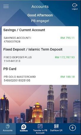 Check Baki Public Bank via PBe Mobile Banking