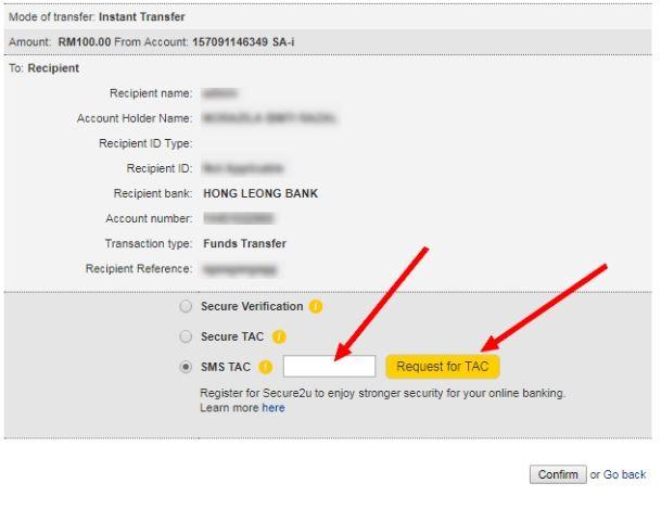 Instan Transfer Maybank
