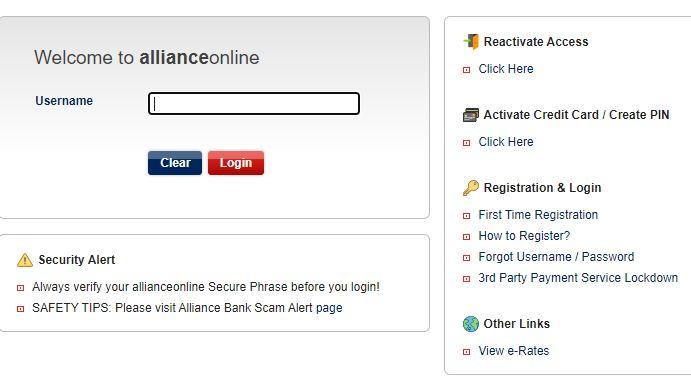 Laman Login Alliance Bank