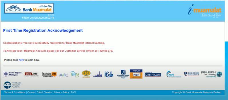 Pendaftaran Berjaya Bank Muamalat