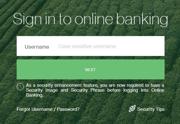 Sign In Online Banking