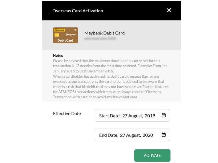 Cara Aktifkan Kad Debit Maybank Online