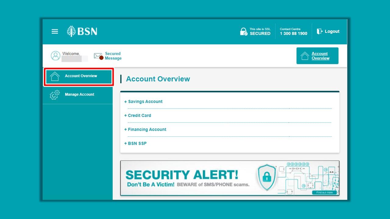 Cara Mendapatkan Penyata Akaun BSN using Online Banking Portal