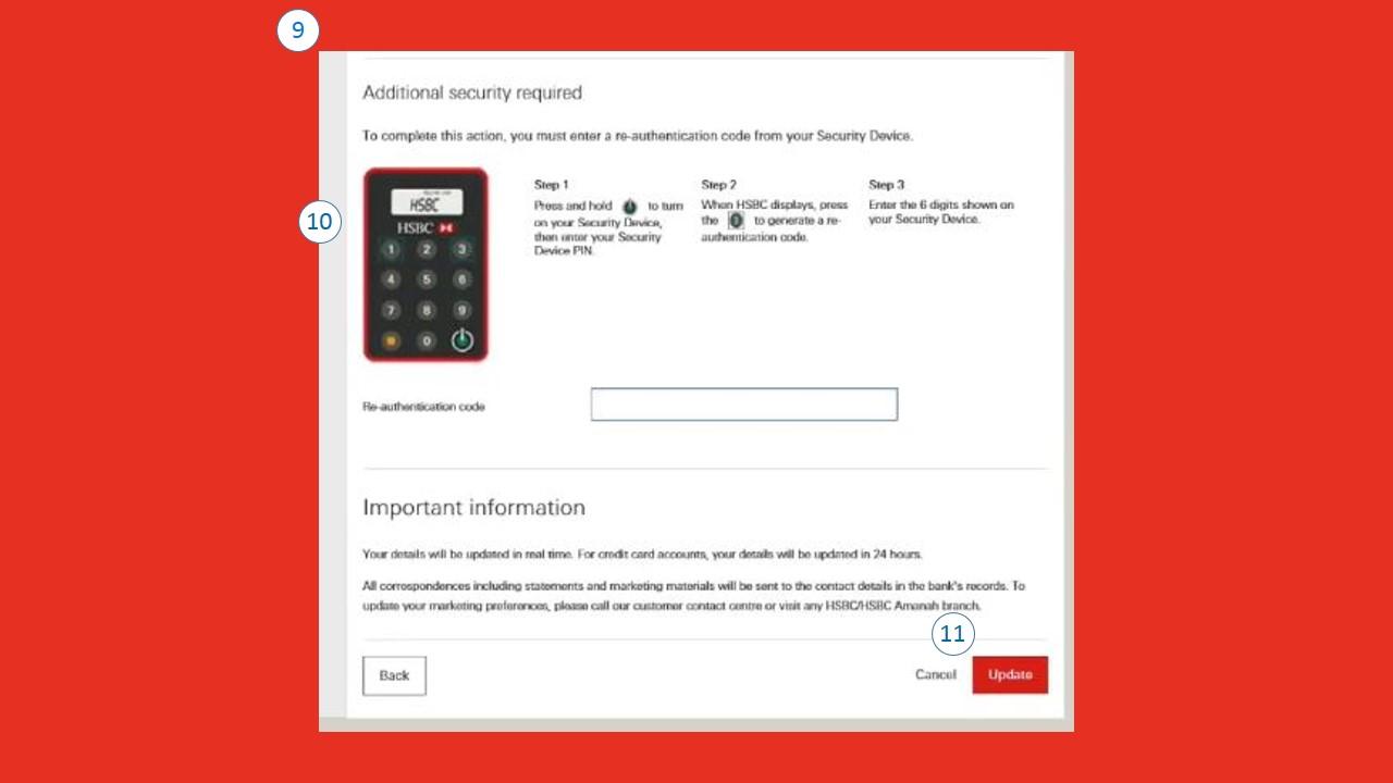Cara Menukar Nombor Telefon HSBC via Online Banking Web