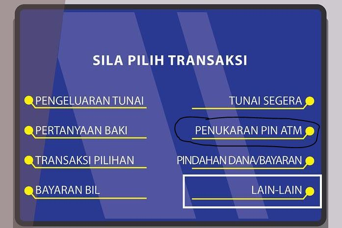 Cara Tukar No PIN ATM Bank Rakyat