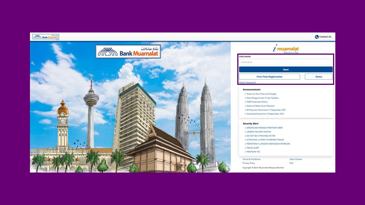 Cara Tukar No Telefon Bank Muamalat via Internet Banking