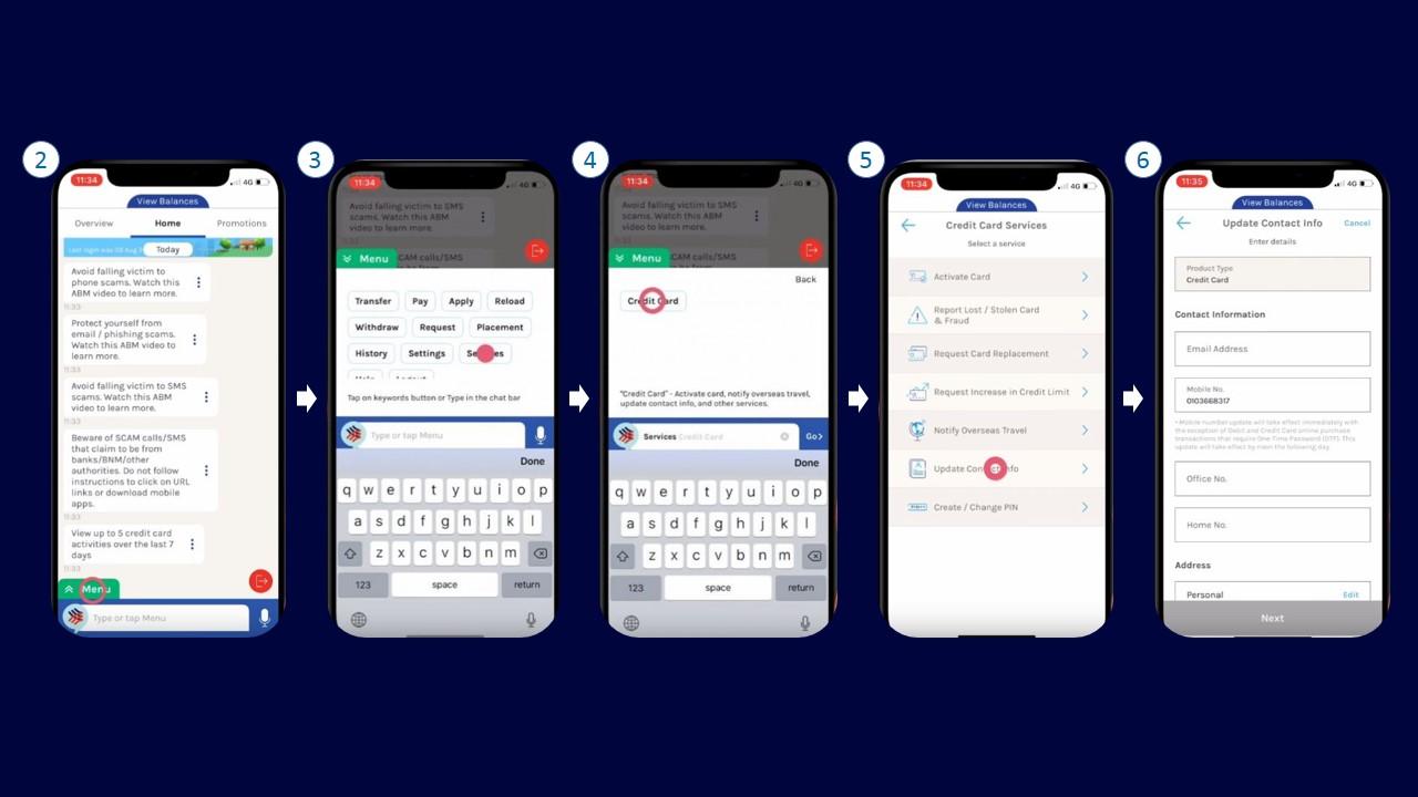 Cara Tukar No Telefon Hong Leong via Mobile Banking App
