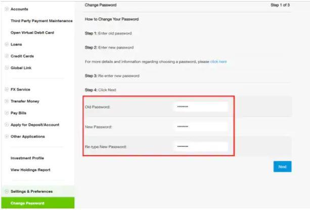 Change Password SC
