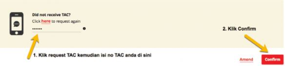 Confirm TAC CIMB