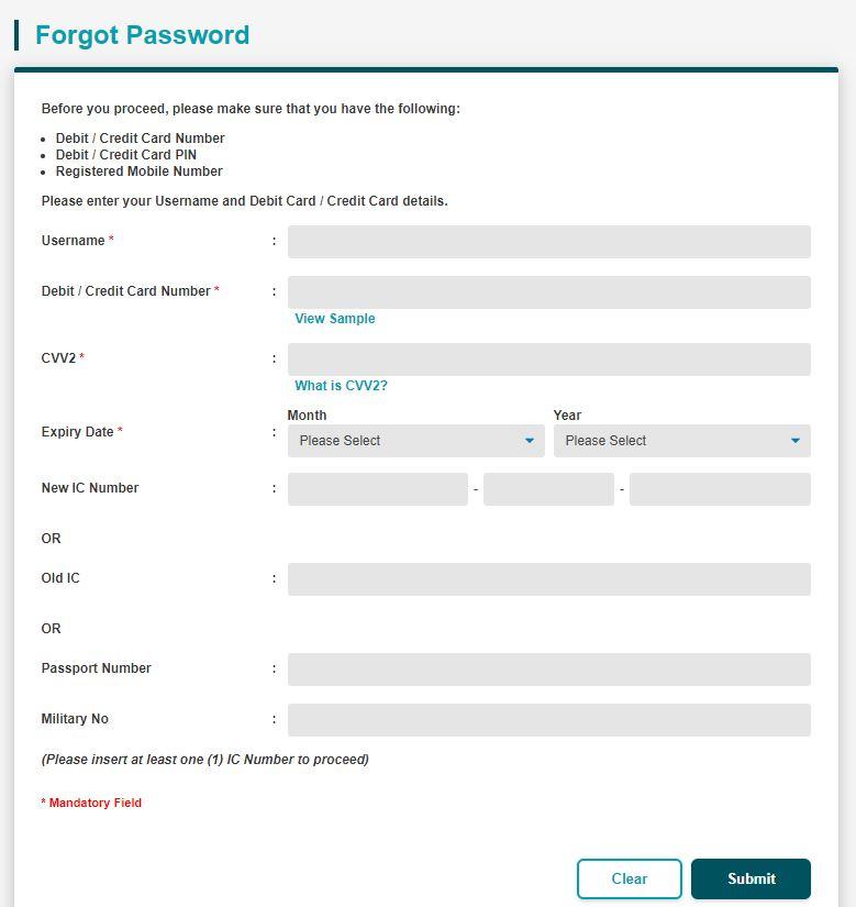 Forgot Password BSN