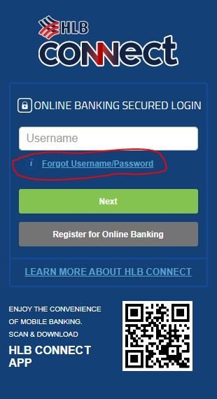 Forgot Password atau Username HLB
