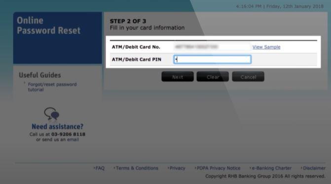 Isikan Kad debit ATM