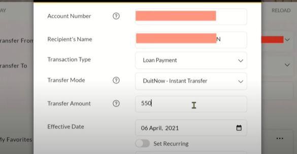 Maklumat Transfer Affin Bank