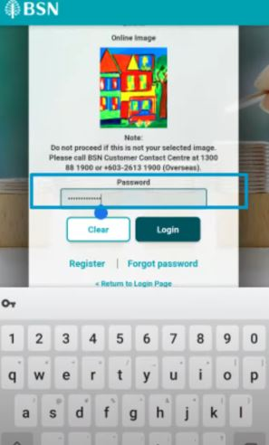 Password myBSN