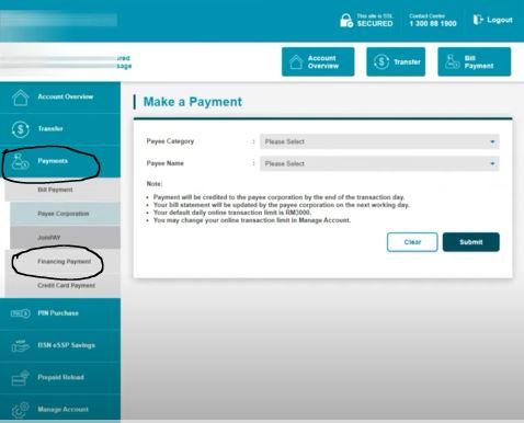 Payments dan Financing Payment