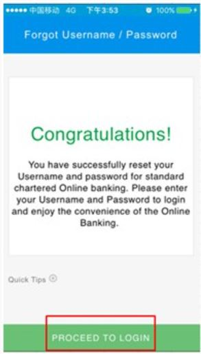 Proceed to login