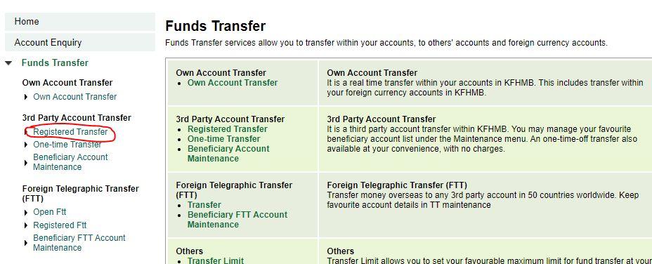 Registered Transfer
