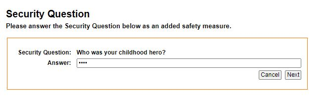 Security Question KFH