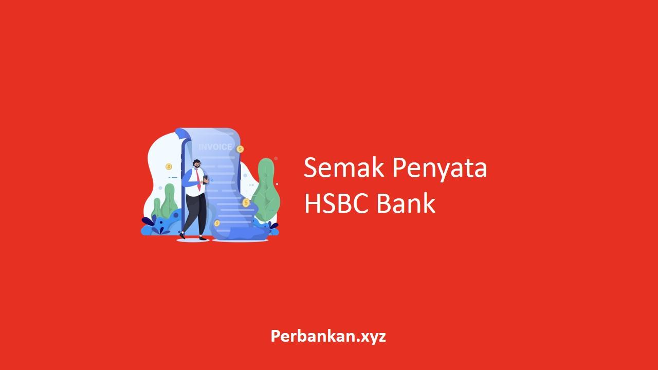 Semak Penyata HSBC Bank