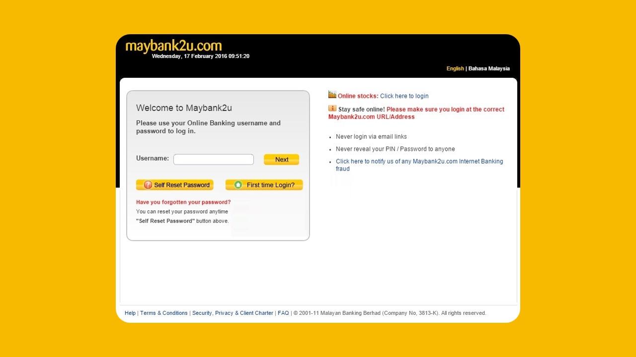 Semak Penyata Maybank2u Trough Website