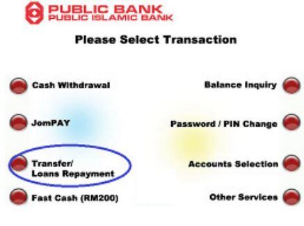 Transfer Loans Repayment